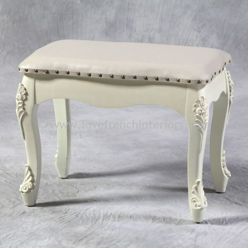 Large Stool in Cream